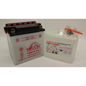 LEOCH Power Sport 12V  (12N10-3A-1), Conventional Battery with Acid Pack