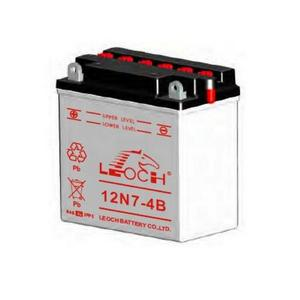 LEOCH Power Sport 12V  (12N7-4B), Conventional Battery with Acid Pack