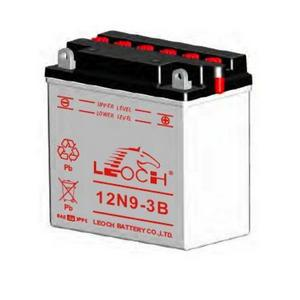 LEOCH Power Sport 12 Volt Battery (12N9-3B), Conventional Battery with Acid Pack