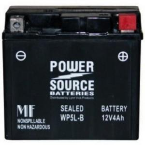 Power Source    12 Volt  Battery (WP5L-B),  Sealed AGM