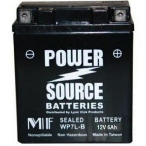 Power Source    12 Volt  Battery (WP7L-B),  Sealed AGM
