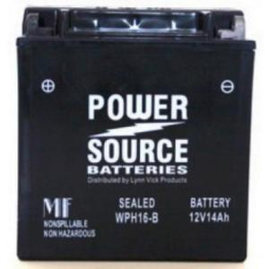 Power Source    12 Volt  Battery (WPH16-B), Sealed AGM