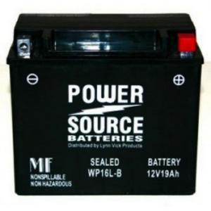 Power Source    12 Volt  Battery (WP16L-B),  Sealed AGM