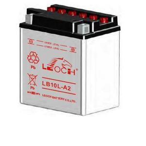 LEOCH Power Sport 12 Volt Battery (LB10L-A2), Conventional Battery with Acid Pack